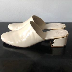 Tori Burch Julianna 45mm Mule in cream 9 NWT